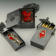 Sacred Fire Sacred Heart Triptych