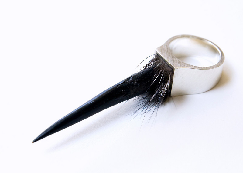 Horn Ring - Furred Side