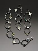 Rope flora earrings and bracelet