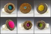 rust & felt rings