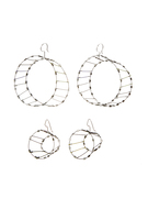 Mobius Strip+ Bottle Cap Earrings