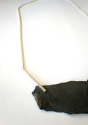 Slate and 925 silver neckpiece