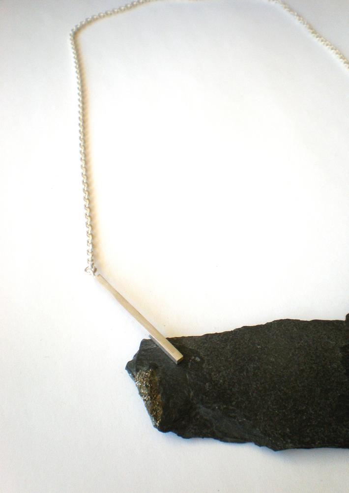 Slate and 925 silver neckpiece