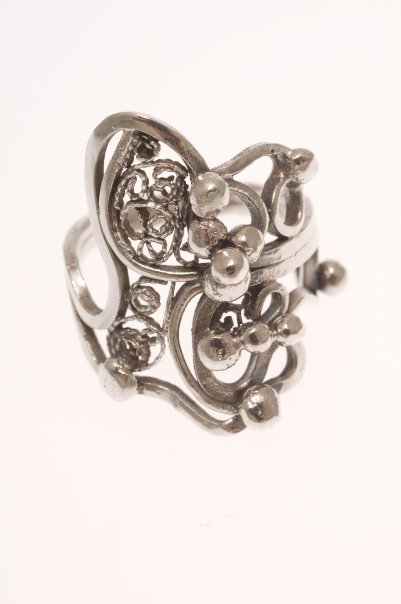 Sterling Silver/Fine Silver Filigree Ring