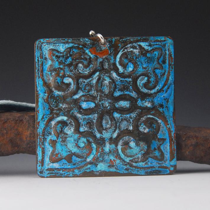 tin tile blue a
