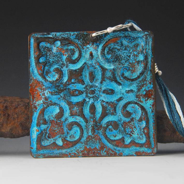 tin tile blue a 2