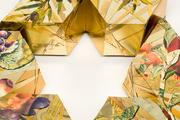 Reuse, Renew, Recycle, Assiyah, Yetzirah, Beriyah TuBishvat Seder Plate by Harriete Estel Berman
