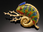 Panther Chameleon Pin/Pendant