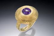 Ring - gold, micro-chasing