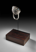 Flame Set Gemstone Ring Sculpture