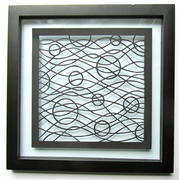 Waves and Circles Wall Art Home Décor Silhouette Paper Cutout