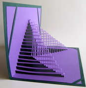 Origamic Architecture. Geometric Intricate Pape Cut. 3D.