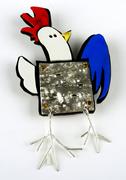 Disco Chicken Brooch