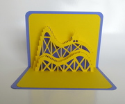 Roller Coaster Pop-Up Card