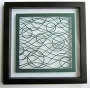 Waves and Circles. Abstract Wall Art. Home Decor. Silhouette Paper Cut.