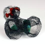 powdercoated.mesh.brooch