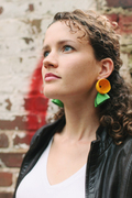 Poppy Earrings on Model