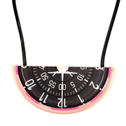 Half Round Bib Necklace - Layered Acrylic