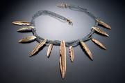 CJ Recht Gold Feather Collar
