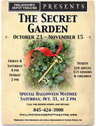 The Secret Garden- Fri and Sat at 8pm, Sun at 2pm!!