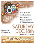 80's Night Dance Party at The Piggy Bank