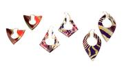 Keyhole Earrings - Layered Acrylic