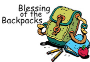Blessing of the Backpacks at First Presbyterian