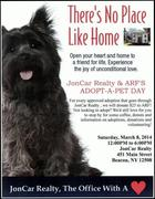 ADOPT-A-PET DAY, ARF will be at JonCar Realty Today