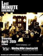 Last Minute Soul Mates Playing in Cold Spring's Whistling Willies