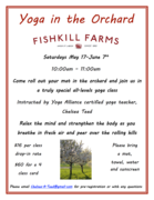 Yoga In the Orchard: Outdoor Yoga Series at Fishkill Farms