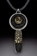 Black and Gold Brocade Pendant