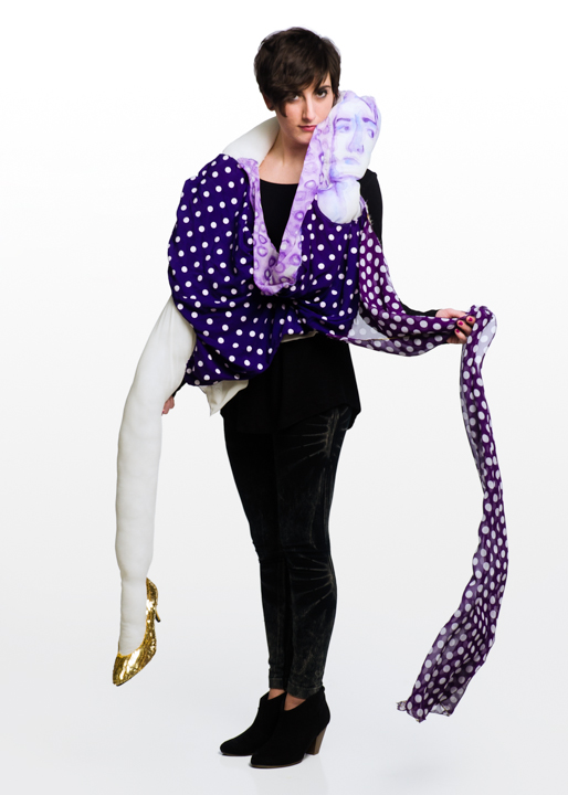 purple polka dot sophia