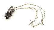 Sieve necklace with Dangles