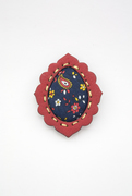 Red and Blue Brooch front