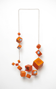 cubic tangelo necklace I