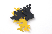 Layered lichen brooch (back)