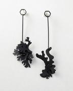 Lichen drop earrings