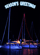 Boats with lights