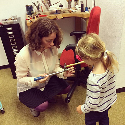 combining childcare and studio practices