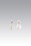 CULTURED AND MOTHER OF PEARL EARRINGS