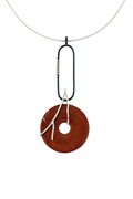 RED JASPER AND BLACK DIAMOND NECKLACE