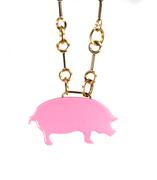Pink Piggy Necklace