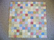 Orange Peel flannel baby quilt Back