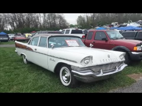 Checking Out Classic Cars With Pam 1957 Chrysler Saratoga At the 2019 Spring Carlisle