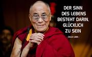 Dalai Lama im Klostergarten in Rikon