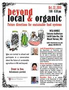 Beyond Local and Organic: Future Directions for Sustainable Food Systems