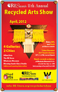 Recycled Art Show - upcycled design gallery at The RE Store