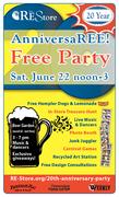 The RE Store Celebrates Our 20th AnniversaRE – FREE PARTY