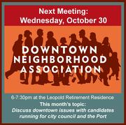 October Downtown Neighborhood Association Meeting