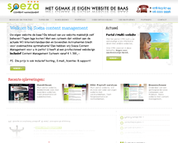 Webdesign voor Soeza Content Management